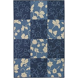 Mandara Mandara Colorblock Indoor/ Outdoor Rug (5