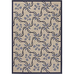 Mandara Indoor/ Outdoor Beige Polypropylene Rug (5'2 x 7'9)