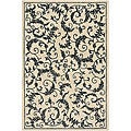 Hand-tufted Mandara Cream Wool Rug (5' x 7'6)