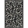 Hand-Tufted Mandara Black Wool Area Rug (7'9