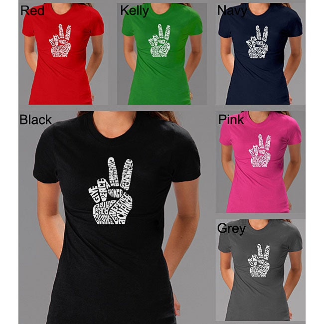 Los Angeles Pop Art Women's Peace Fingers T-shirt