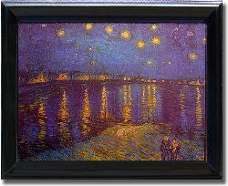 Vincent Van Gogh 'Starlight Over the Rhone' Framed Canvas Wall Art