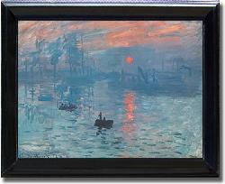 Monet 'Impression Sunrise' Framed Canvas Art