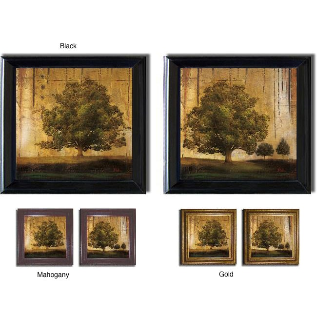 Patricia Pinto 'Aged Trees' 2-piece Framed Canvas Art Set