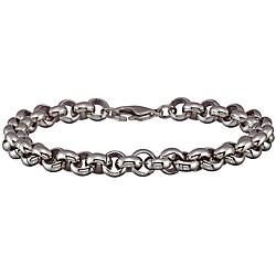 Stainless Steel Men's Round-link Bracelet