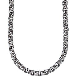 Stainless Steel Men's Round-link Necklace