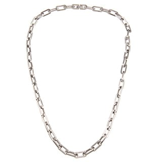Stainless Steel Men's Oval-link Necklace