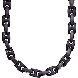 Blackplated Stainless Steel Men's Link-style Necklace
