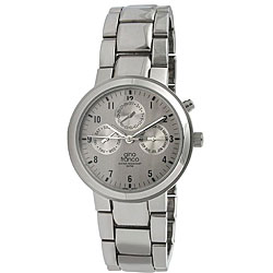 Gino Franco Men's Stainless Steel Round Multifunction Watch