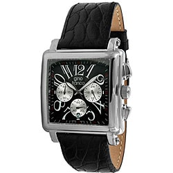 Gino Franco Men's Square Chronograph Watch