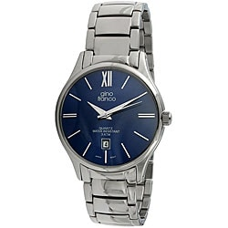 Gino Franco Men's Round Stainless-Steel Quartz Watch