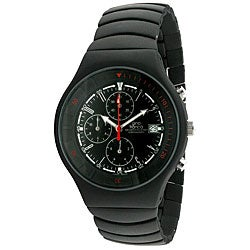 Gino Franco Men's Mirano Black Dial Chronograph Watch