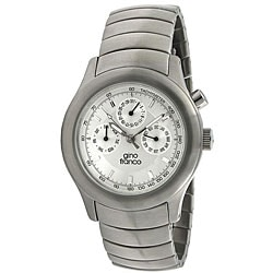 Gino Franco Men's Stainless Steel Chronograph Watch