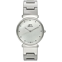 Gino Franco Men's Stainless Steel Silver Dial Watch