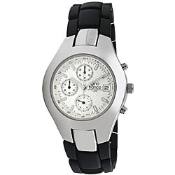 Gino Franco Men's Stainless-Steel Water-Resistant Chronograph Watch