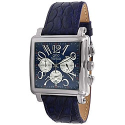 Gino Franco Men's Leather Strap Chronograph Watch