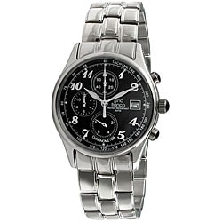 Gino Franco Men's Stainless-Steel Chronograph Watch with Round Case
