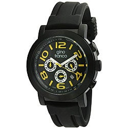 Gino Franco Men's Multifunction Rubber Strap Watch