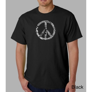 Los Angeles Pop Art Men's 'Peace, Love and Music' T-shirt