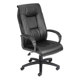 Boss LeatherPlus Bonded Leather Executive Office Chair