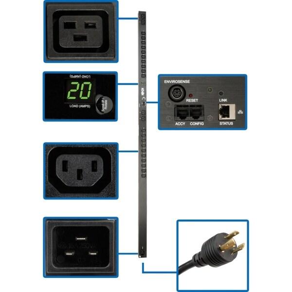 Tripp Lite PDUMNV20HV PDU Monitored 208V - 240V 20A 24 Outlet