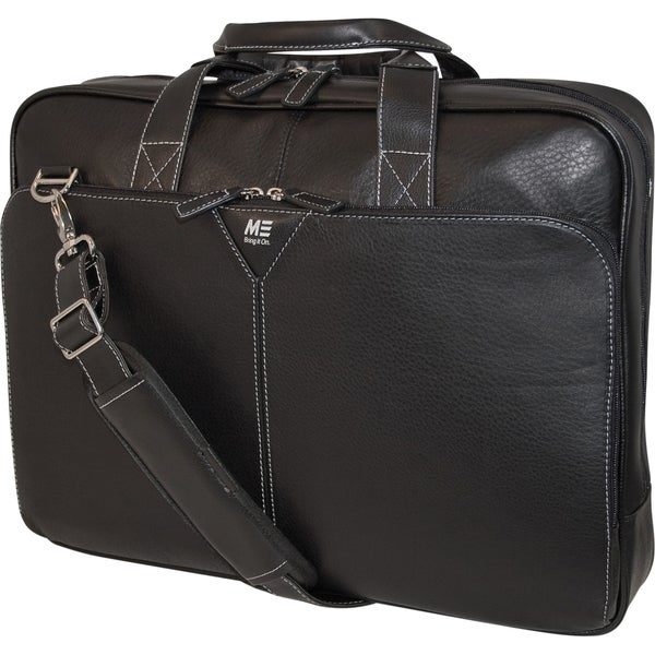 """Mobile Edge 16"""" Deluxe Leather Briefcase"""