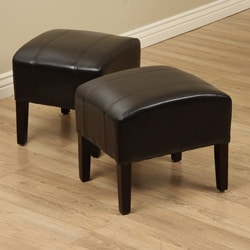Luke Faux Leather Ottomans (Set of 2)