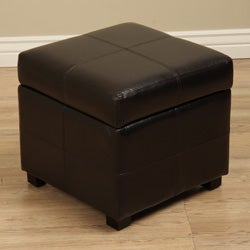 Katlyn Faux Leather Corner Storage Seat