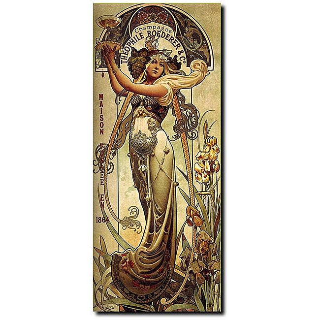 Louis-Theophile Hingre 'Champagne' Canvas Art