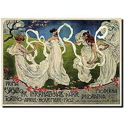 Bistolfi 'Prisma Esposizione Internazionale DArte' Canvas Art