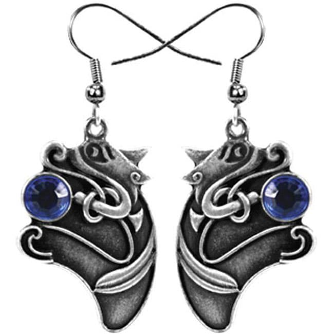 Pewter Celtic Animal Earrings