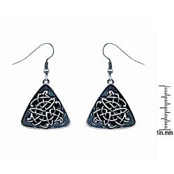 Pewter Celtic Triangle Earrings