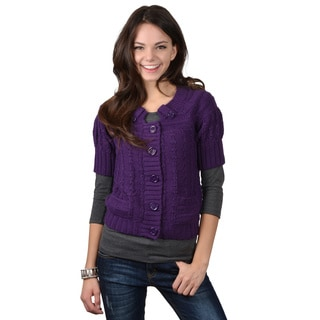 CiSono by Adi Junior's Chunky Knit Cardigan
