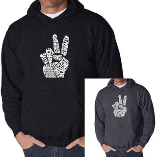 Los Angeles Pop Art Men's Peace Fingers Hoodie