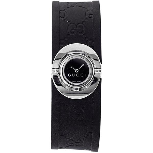 Gucci Women's Stainless Steel Black Twirl Watch