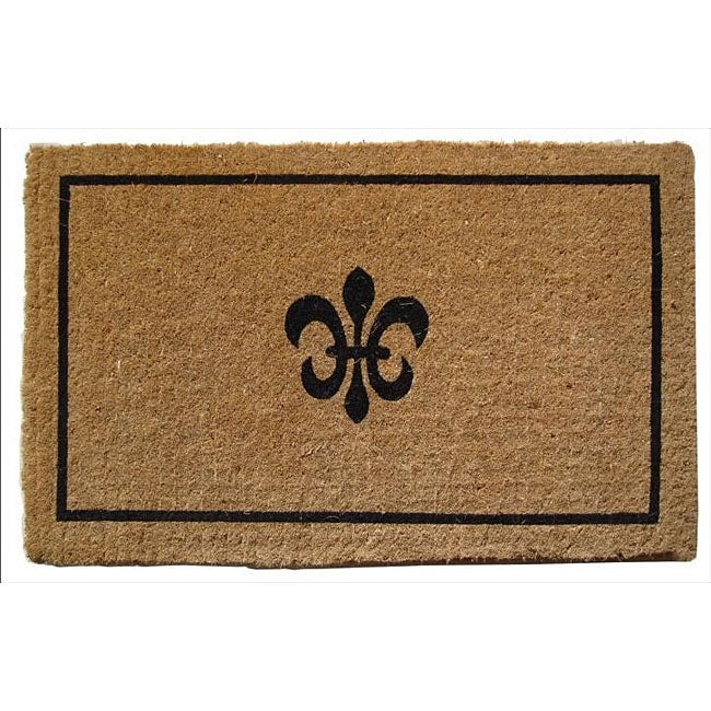 black coir fleur de lis 18x30 extra thick door mat 12280534 shopping big