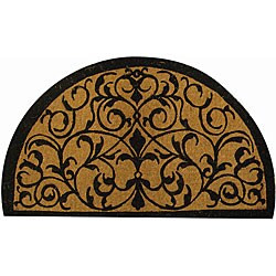Half Round Iron Grate Extra-thick Door Mat (2' x 3'4)