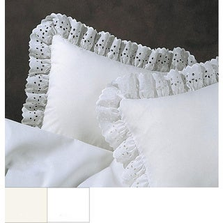 Ruffled Lauren Eyelet Cotton Blend Euro Sham
