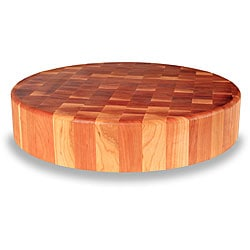 Cherry End Grain 18-inch Round Chopping Block