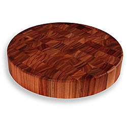 Lyptus End Grain 15-inch Round Chopping Block