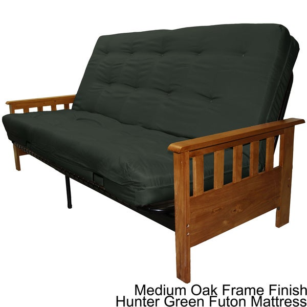 Provo Queen size Mission style Frame Mattress Futon Set
