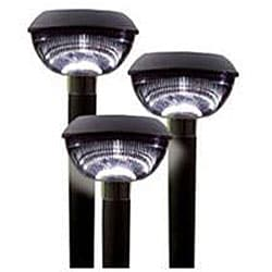 Plastic Solar-powered Landscape Lights (Set of 12)