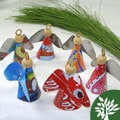 Set of 3 Recycled Tin 'Attitude Angels' Ornaments (South Africa)