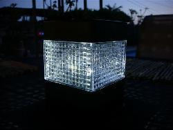 Accent Solar Garden Fence Cap Lights (Set of 8)