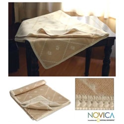 'Inca Duck Dunes' Alpaca Wool Throw Blanket (Peru)