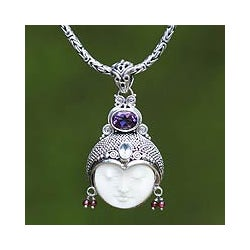 Amethyst and Garnet 'Dreamer' Necklace (Indonesia)