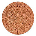Ceramic 'Aztec Sun Stone in Terracotta' Plaque (Mexico)