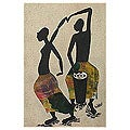 'Drummer and Dancer' Painting (Ghana)