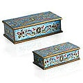 Set of 2 Painted Glass Jewelry Boxes (Peru)