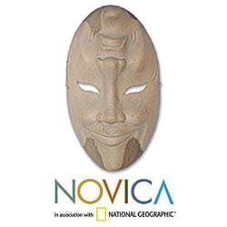 Wood 'Comedy and Tragedy' Mask (Indonesia)